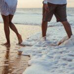 caminhar na areia