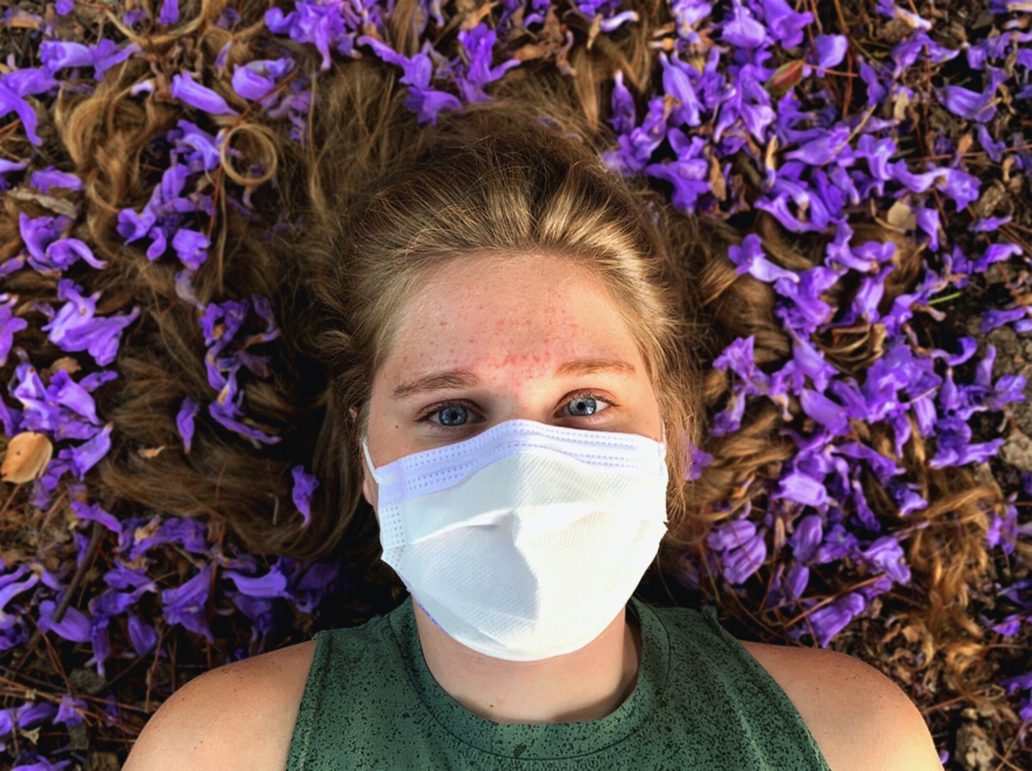 problemas de pele ao usar máscara
