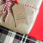 embrulhos de Natal sustentáveis