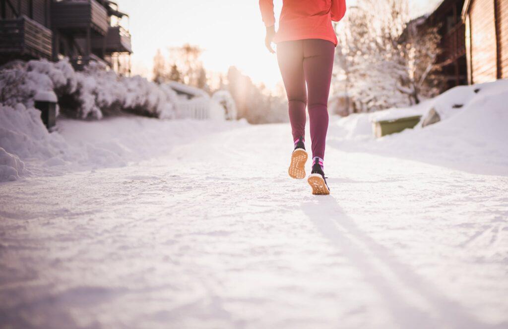 correr ao frio