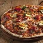 pizzas com massa de fermentação lenta